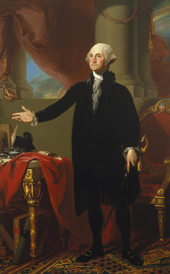 Man Painting - Gilbert Stuart - George Washington 1796 by Gilbert Stuart
