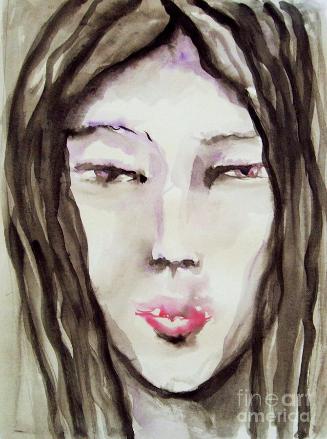 Girl Painting - Girl by Kristina Valic