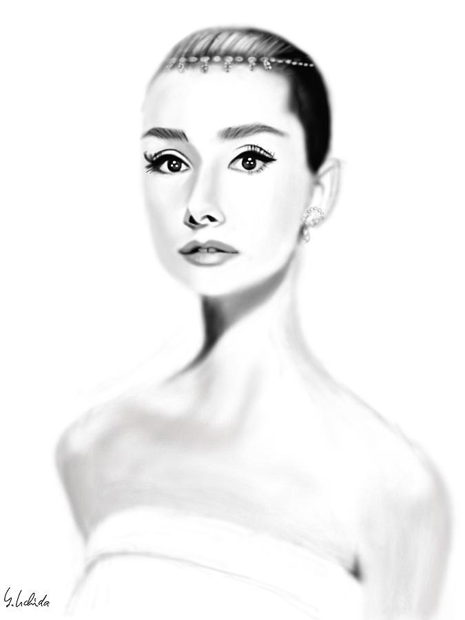 Ipad Painting - Girl No.203 by Yoshiyuki Uchida