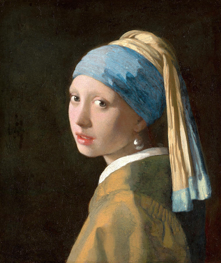 Girl With A Pearl Earring Painting - Girl With A Pearl Earring by Johannes Vermeer