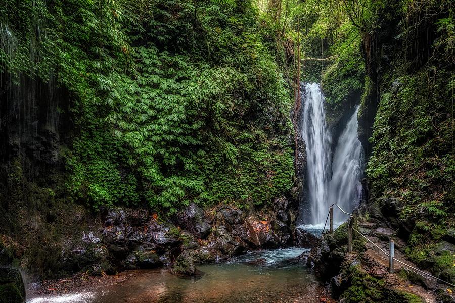 Bali Photograph - Git Git Waterfall - Bali by Joana Kruse