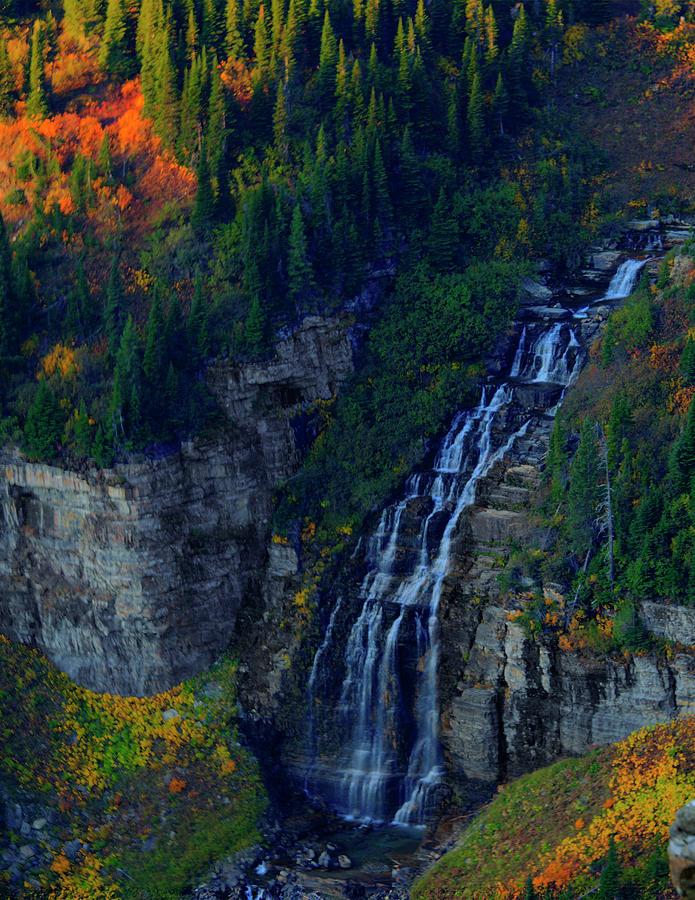 Glacier Photograph - Glacier Waterfall by Roy Nierdieck