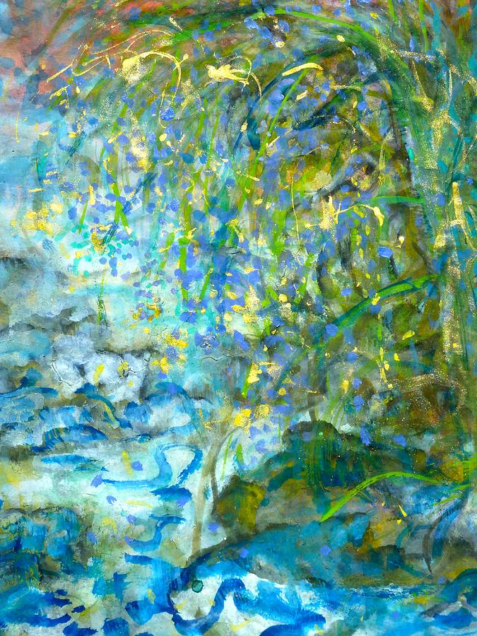 Glistening willow Painting by Phoenix Simpson