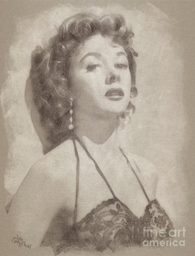 Gloria Grahame, Vintage Hollywood Actress Drawing
