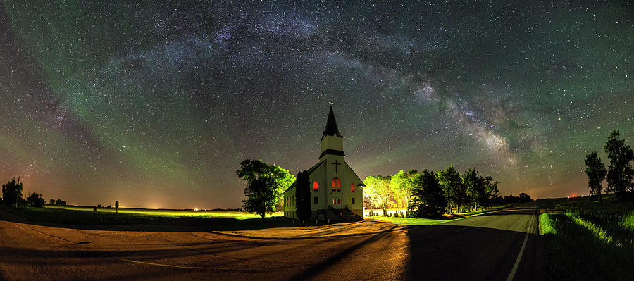 Church Photograph - Glorious Night by Aaron J Groen
