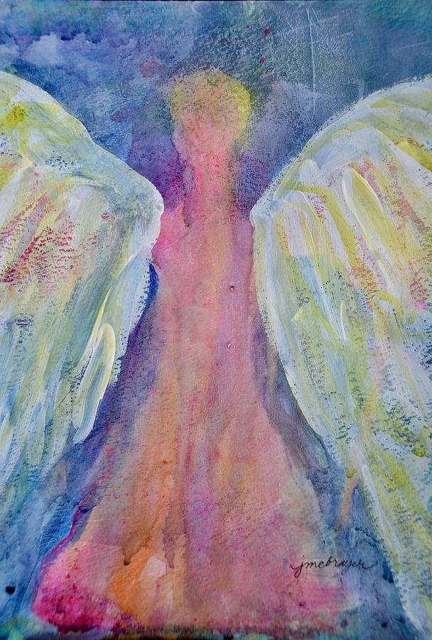 Charity Painting - Glowing Angel by Jeanne MCBRAYER