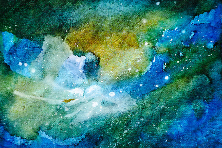 Abstract Painting - Go With The Flow - A - by Sandy Sandy