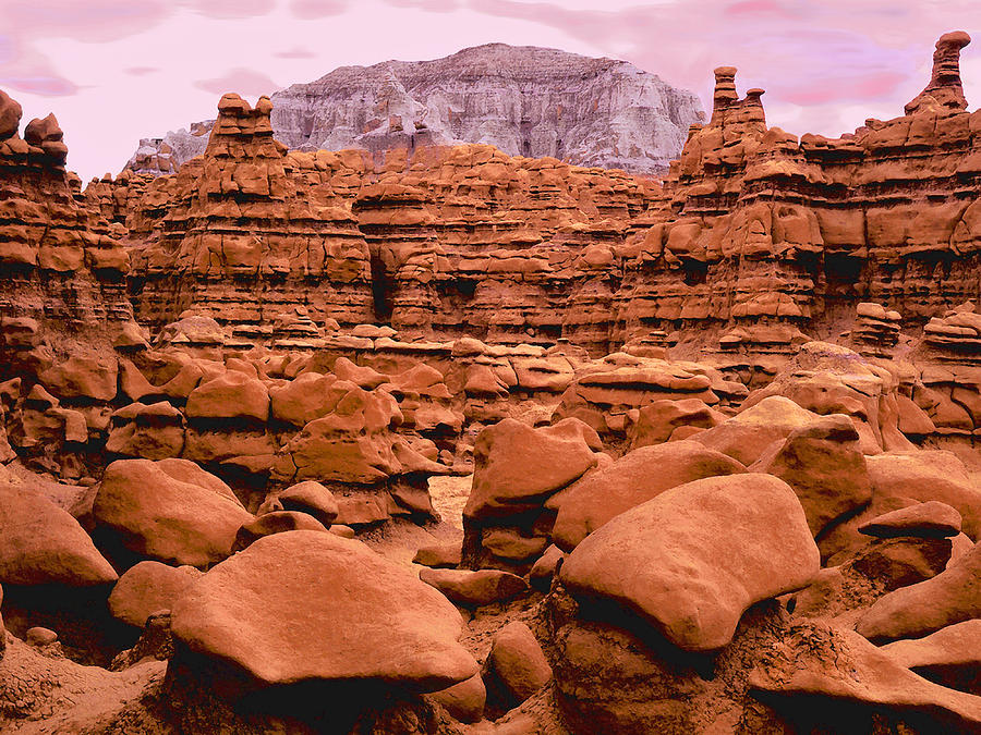 Formations Photograph - Goblin Valley Dusk by Dean Uhlinger