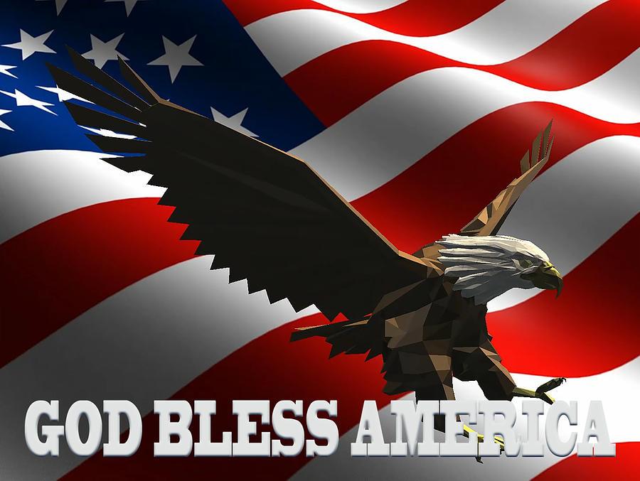 God Bless America Digital Art By Cynthia Leaphart