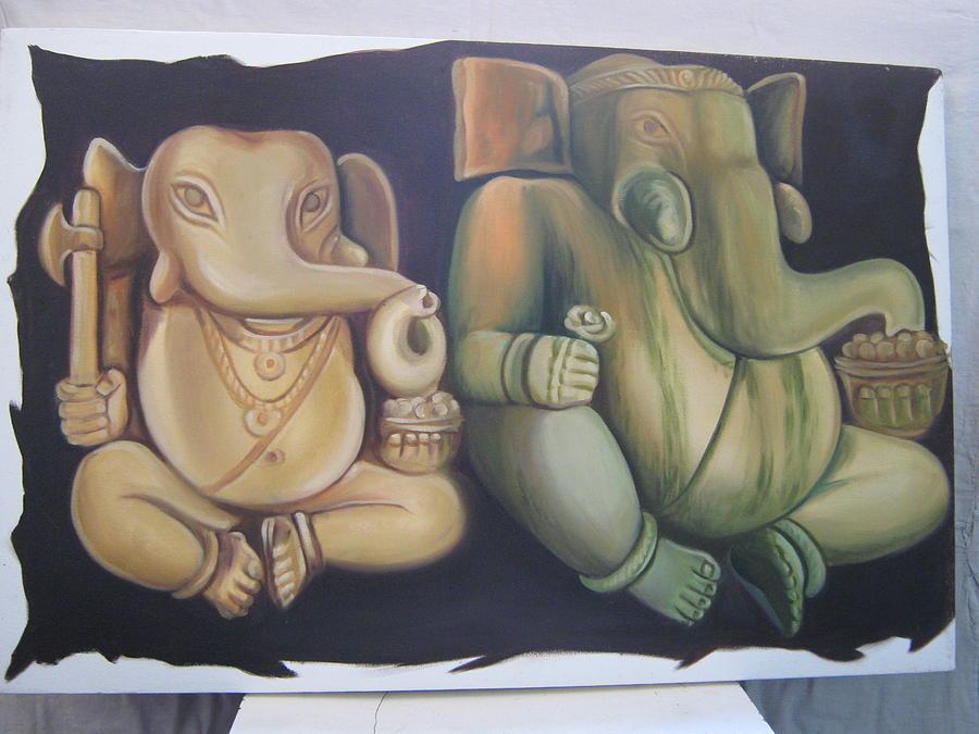 God Ganesh Painting by Gayatri Maheshwari