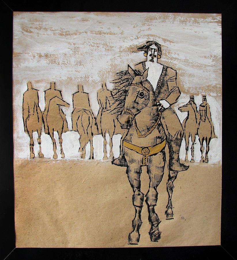 Man Painting - Going To Zabol by Mehrdad Sedghi