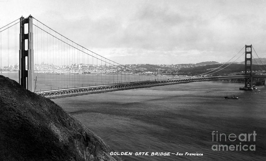 1937 Photograph - Golden Gate Bridge by Granger