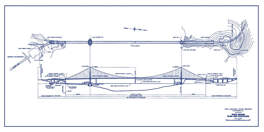 golden gate bridge  study for expansion  san francisco