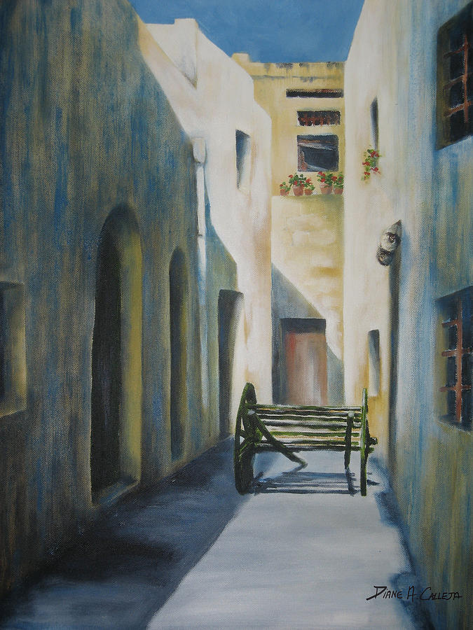 Gozo Painting - Gozo Alley by Diane Agius