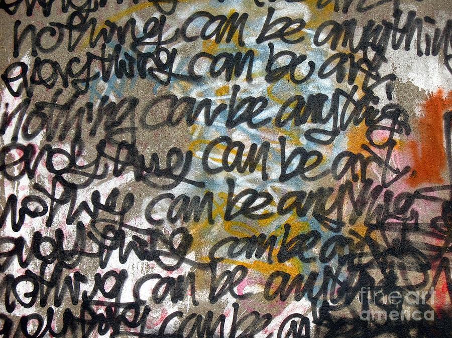 Graffiti Photograph - Graffiti Writing by Yali Shi