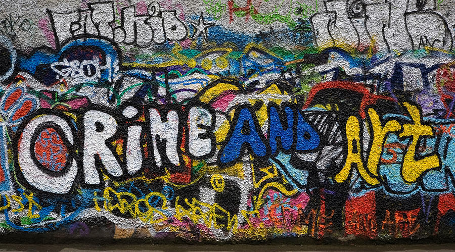 Color Image Photograph - Grafitti On The U2 Wall, Windmill Lane by Panoramic Images