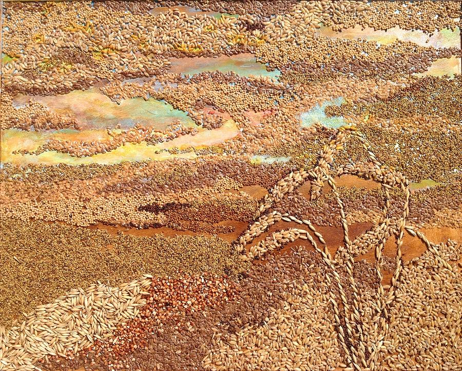 Grains Painting the Prairies V by Naomi Gerrard