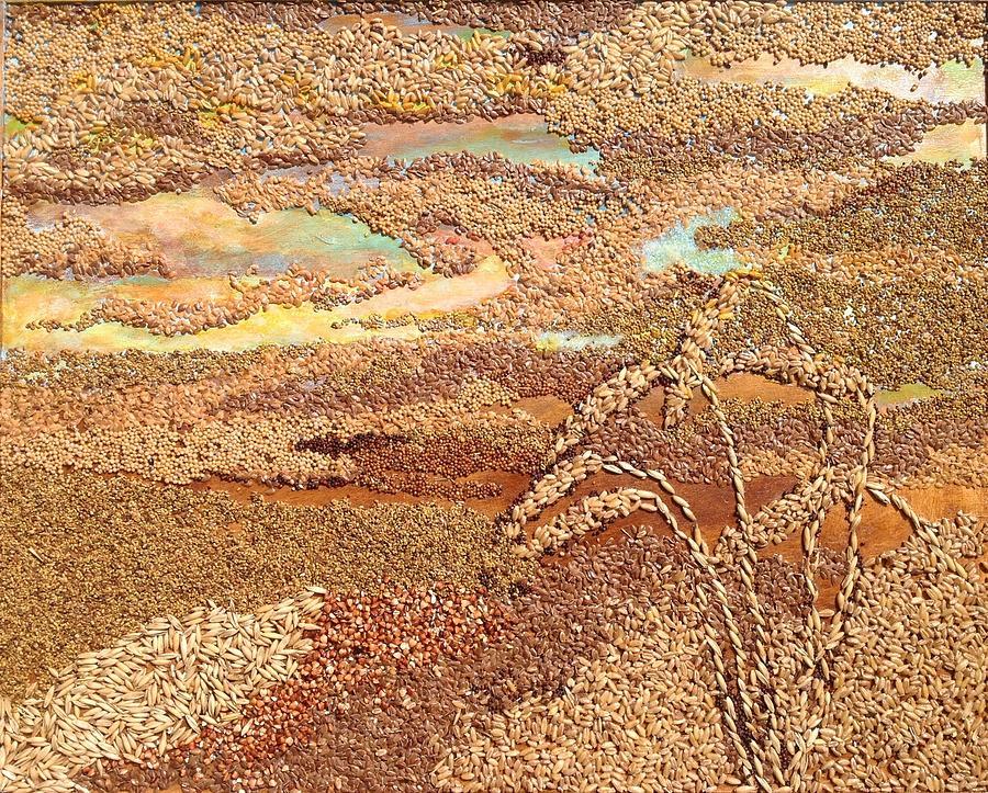 Grains Painting the Prairies V by Naomi Gerrard