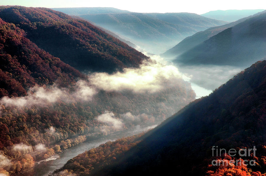 Grandview Photograph - Grandview New River Gorge by Thomas R Fletcher