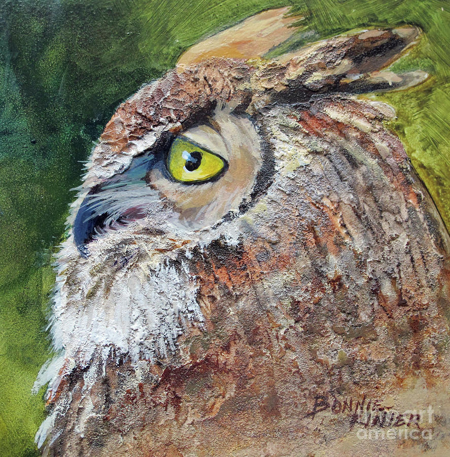 Great Horned Owl by BONNIE RINIER