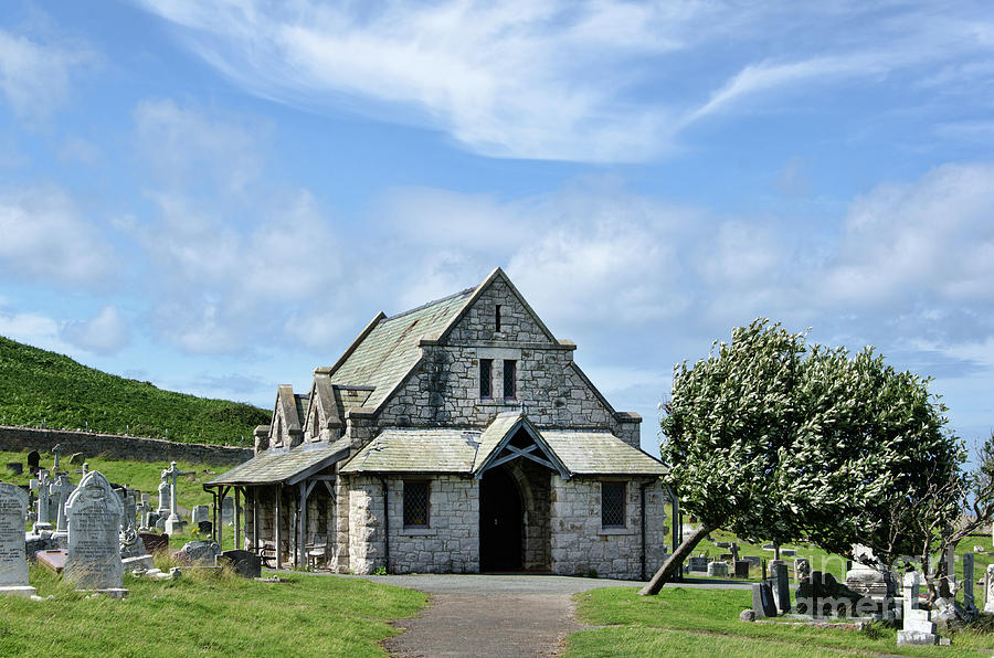 St Tudno Photograph - Great Orme Cemetery by Steev Stamford