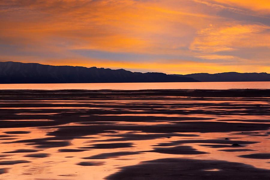 Great Salt Lake Photograph - Great Salt Lake Sunset by Utah Images