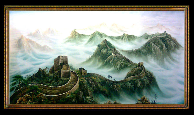 Great Wall Painting by Baoling Peng