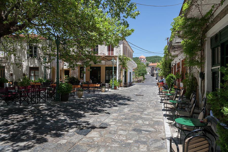 Greece Photograph - Greek Village Plaza by Al Poullis
