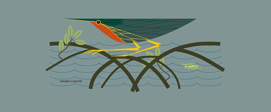Green Heron by Marie Sansone