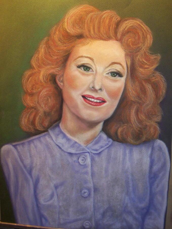 Greer Garson Pastel by Deborah Steinmetz