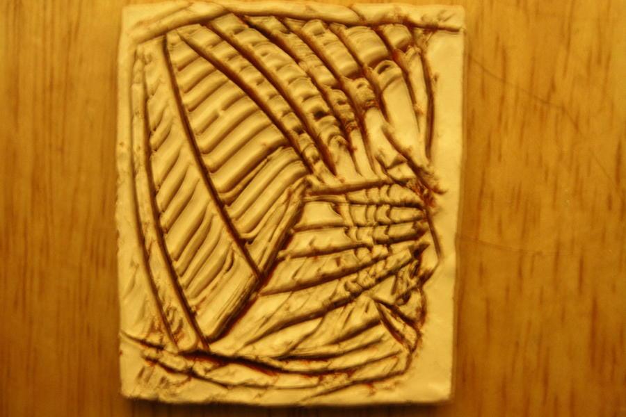 Jesus Ceramic Art - Grit - Tile by Gloria Ssali