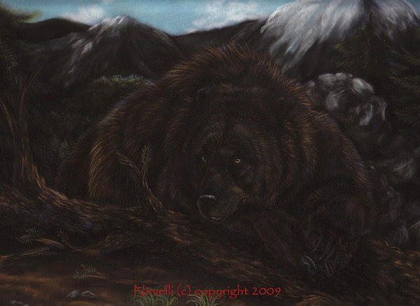 Bear Painting - Grizzly by Sarah Whittington