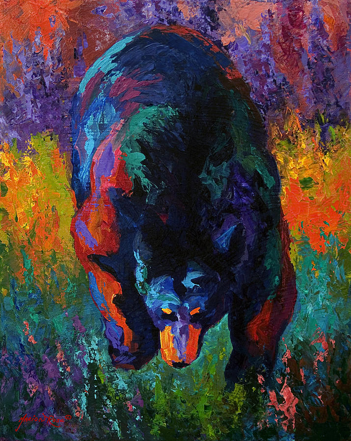 Bear Painting - Grounded - Black Bear by Marion Rose