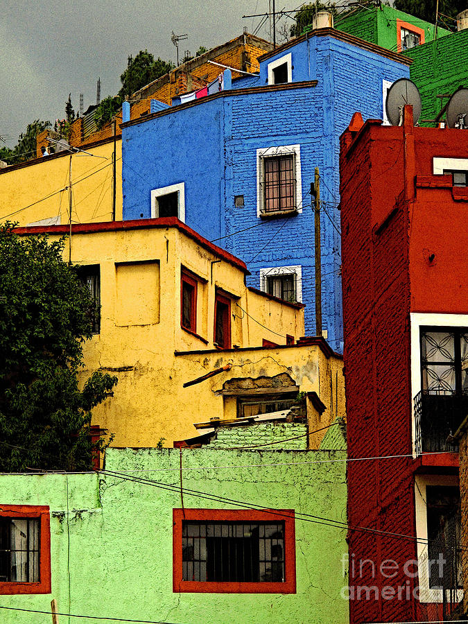 Darian Day Photograph - Guanajuato Hillside 3 by Mexicolors Art Photography