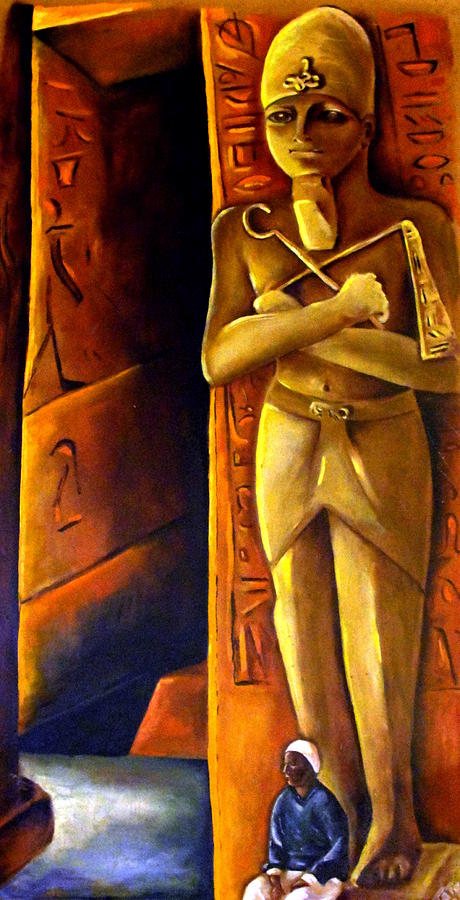 Pharaoh Painting - Guardian Of The Tomb by Carmen Cordova