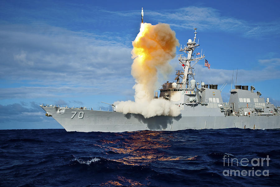Missile Photograph - Guided Missile Destroyer Uss Hopper by Stocktrek Images