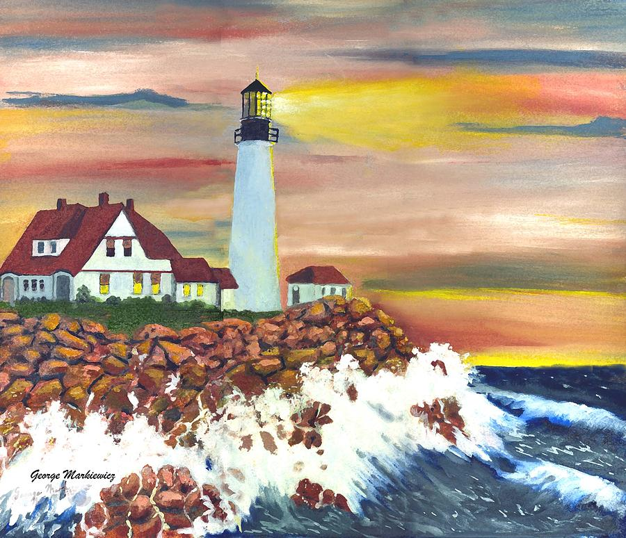 Guiding light Print by George Markiewicz
