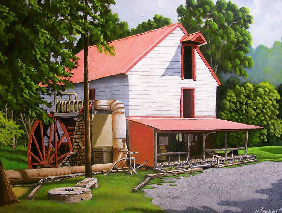 Landscapes Painting - Guilford Mill by Larry Hoskins