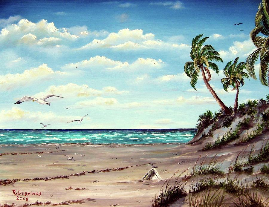 Florida Painting - Gulf Dunes by Riley Geddings