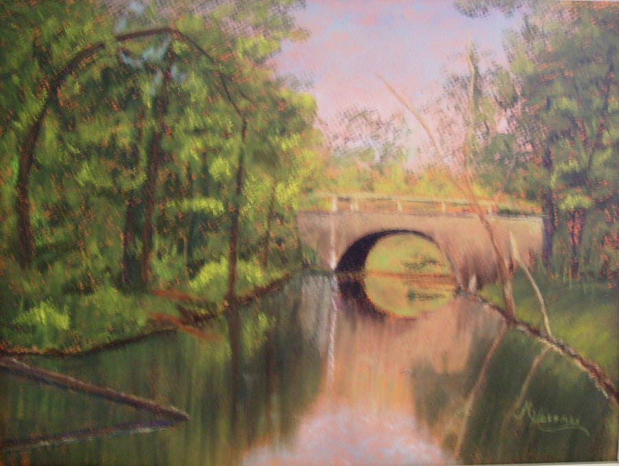 Pastel Painting - Gulpha Gorge Bridge by Margaret Hoffman