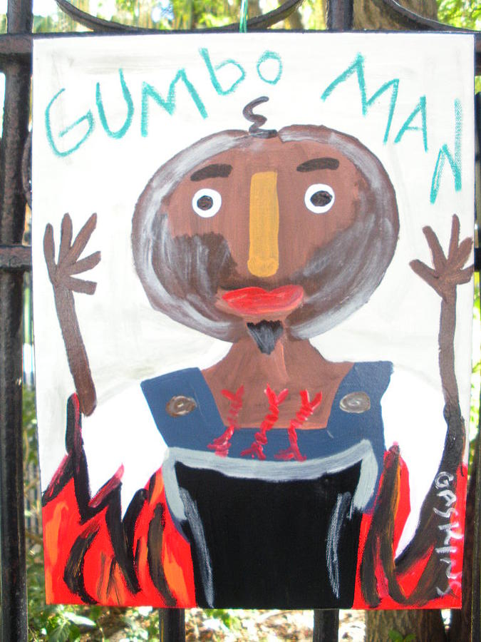 Gumbo Painting - Gumbo Man by Terry Gaskins