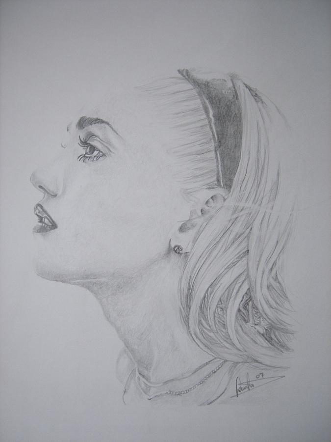 Gwen Stefani Drawing by Sean Leonard