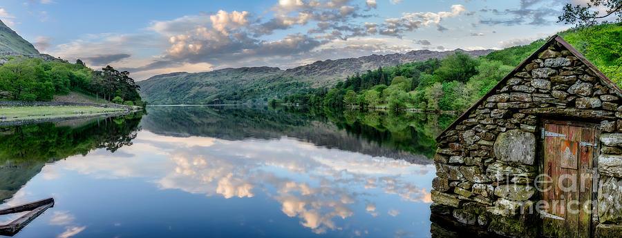 Lake Photograph - Gwynant Lake  by Adrian Evans