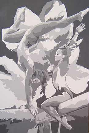 Sports Painting - Gymnast-Sold by Michael James Toomy