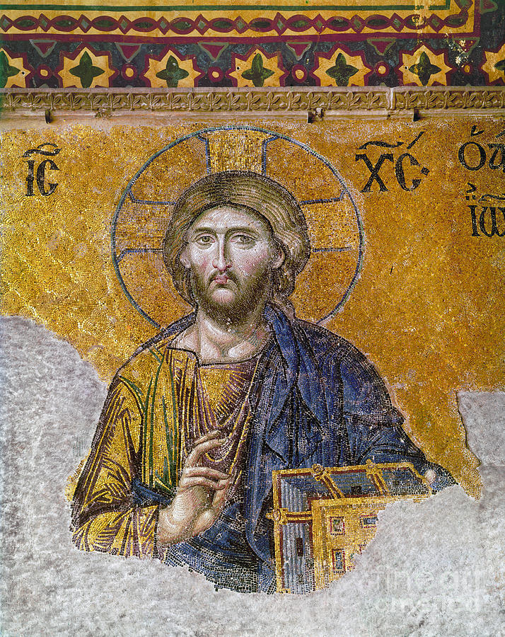 13th Century Photograph - Hagia Sophia: Mosaic by Granger