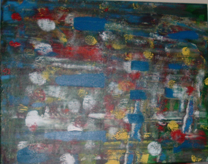 Abstract Painting - Hail Storm by Lon Cerame