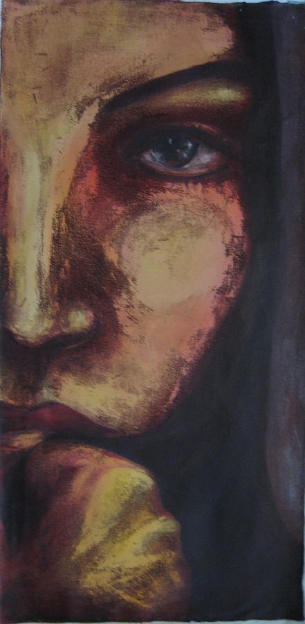 Hijab Painting - Half by Azadeh Amiri
