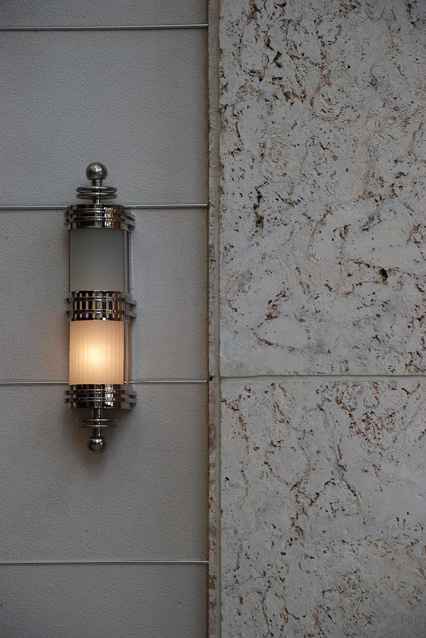 Sconce Photograph - Half Lit Wall Sconce by Rob Hans