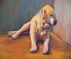 Dog Pastel - Hammer 2 by Joan Wulff