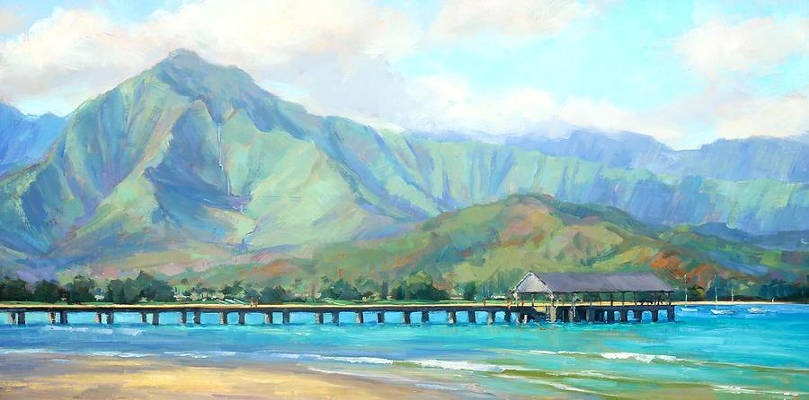 Hanalei Painting - Hanalei Pier by Jenifer Prince